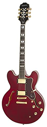Epiphone Sheraton-II Pro Thin-Line, Semi-HollowBody Electric Guitar with Coil Tapping, Wine Red Finish, Maple