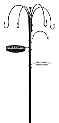 Gardman A04390 Decorative Feeding Station - Black-P