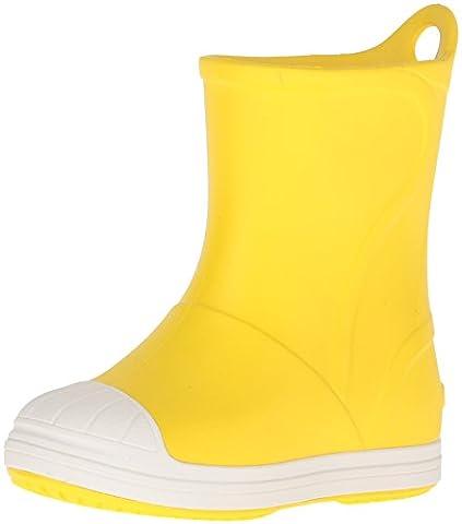 crocs Unisex-Kinder Bumpitbootk Gummistiefel, Gelb (Yellow/Oyster), 23-24 EU