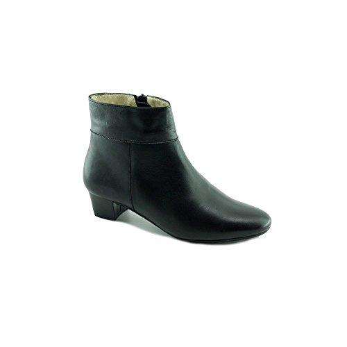 Escarpins d'Hotesses Tarmac Alarm Free Boots Noir Bout Rond en Amande - Petites Et Grandes Pointures