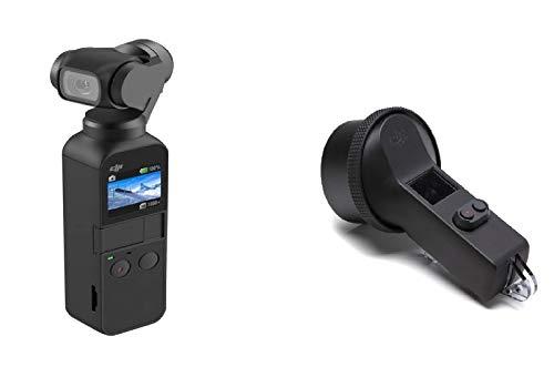 DJI Osmo Pocket Versione 2 - Stabilizzatore 3 Assi con Videocamera 4K Integrata, Risoluzione Fino a 4K e Foto da 12 MP, Nero + DJI Osmo Pocket Case Impermeabile per Osmo Pocket, Resistente all'Acqua