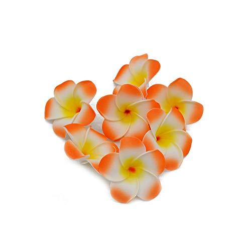 Weiße Schokolade-schaum (Strawberryran Plumeria 20Pcs / Lot 5~9cm Pe-Schaum-künstliche Blumen-Hausgarten-Partei-Dekoration Hochzeit, Schokolade, XL)