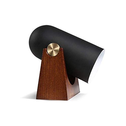 Schreibtischlampe Student Teens Schlafzimmer Schöne Nachttischlampe Aluminium Shade Holzfuß Verstellbare Fort Tischlampe Mit Druckschalter E27 Sockel Für Studie Büro Wohnzimmer Dekoration