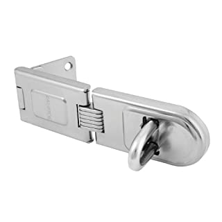 Master Lock Hasp, Zinc Plated Hardened Steel Hasp Lock, High Security Lock, Best Used as a Gate Lock, Shed Lock, Cabinet Lock and More