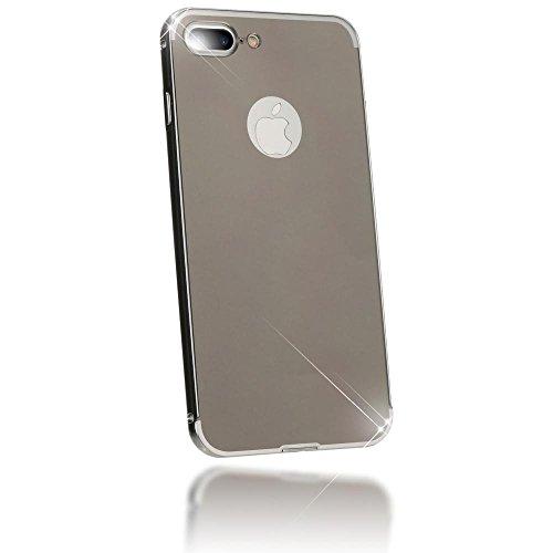 iPhone 8 Plus / 7 Plus Coque Miroir de NICA, Ultra-Fine Housse Protection Slim Mirror Case Cover, Mince Etui Rigide Anti-choc Bumper Aluminium pour Telephone Portable Apple iPhone 7+ / 8+ - Or Rose Noir