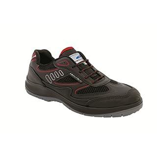 Aboutblu 1930010la 35Eagle Black Red S3Work Shoe, Black Red, Size 35