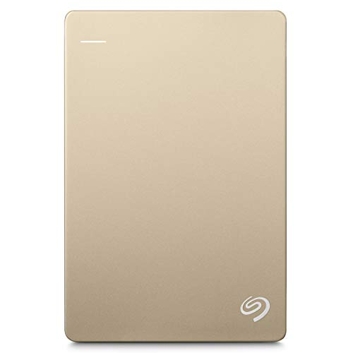 Seagate 1TB Backup Plus Slim (Gold) USB 3.0 External Hard Drive for PC/Mac with 2 Months Free Adobe Photography Plan