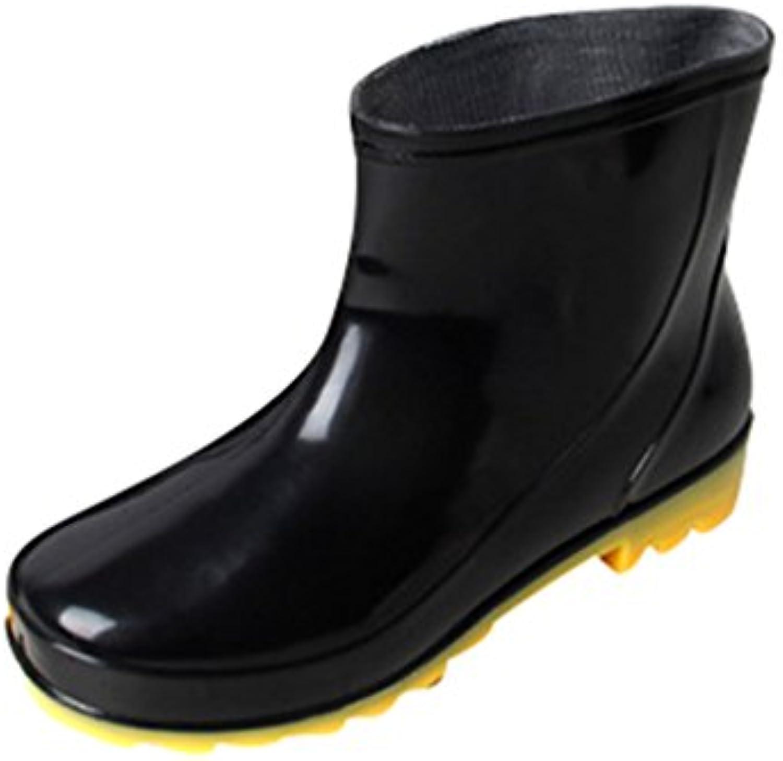 Xinwcang Damen Herren Gummistiefel Kurzschaft Regenstiefel   Halbhoch Regen Boots   Ohne SchnürungXinwcang Herren Gummistiefel Kurzschaft Regenstiefel