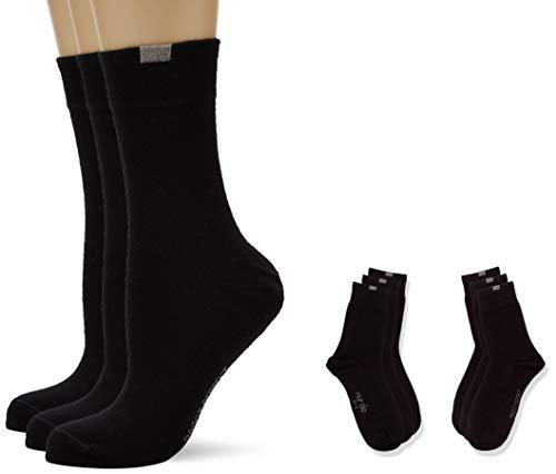 Nur Die Damen Passt Perfekt Socken 9-er Pack, Gr. 42 (Herstellergröße: 39-42), Schwarz (schwarz 940)