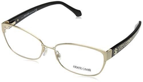 Roberto Cavalli Brillengestelle (Roberto Cavalli Damen Rc5024 028-56-16-140 Brillengestelle, Gold, 56)