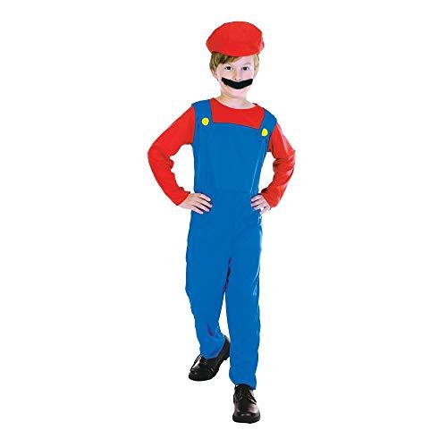 Klempner -Mate (Boy) - Kinder Kostüm - Large - 134cm bis - Bis Boy Kostüm