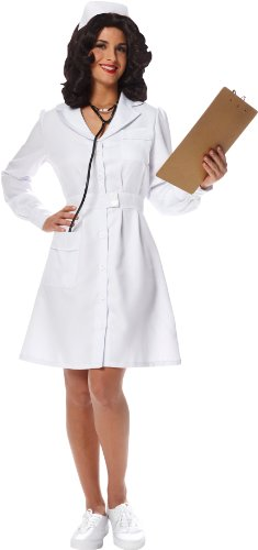 Damen Vintage Krankenschwester Kostüm