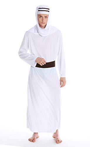 dressmeup Dress ME UP - M-0154 Kostüm Herren Männer Karneval Halloween Scheich Araber Lawrence Arabien Sindbad Kalif - Saudi Arabien Kostüm