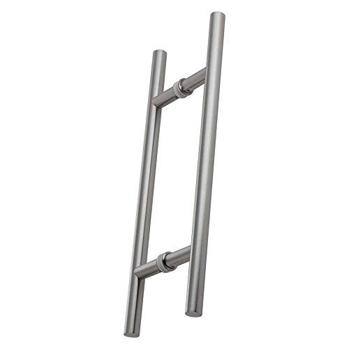 Stoßgriffpaar 500/300 mm für Glas- und Holztüren