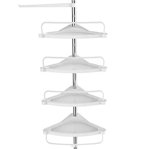 2-Tier Doccia Caddy Bath rettangolare Magazzinaggio Mensole per bagno Spessore vetro temperato Scaffale per bagno cucina mensola da parete in alluminio