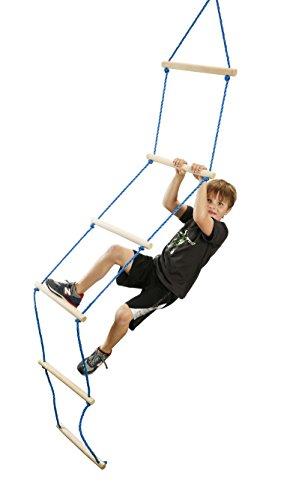 ts Strickleiter 2,5m lang 6 Holz-Sprossen 38cm Breit Baumhaus (Ninja Ausrüstung Für Kinder)