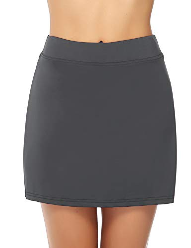 iClosam Women's Sports - Jupe - Gris - Taille M