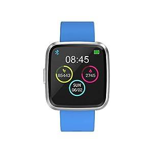Bluetooth Smart Watch Fitnessuhr Touchscreen Freisprecheinrichtung Pulsmesser Armband Aktivität Bund