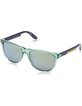 Carrera - Gafas de sol redondas 5007 para mujer, color verde/azul/amarillo, talla 56 mm