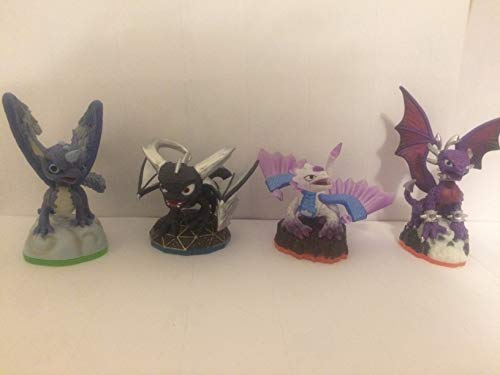 Skylanders Figures - Swap Force - Trap Team - Superchargers - Imaginators Compatible - Dark Spyro - Flashwing - Cynder - Whirlwind - (Xbox One/Xbox 360/PS4/PS3/Nintendo Wii/Wii U/Nintendo Switch) (Skylanders Team Swap)