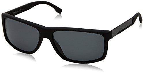 BOSS Hugo Herren 0637/S RA HXE Sonnenbrille, Schwarz (Black Carbon/Grey Pz), 60