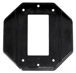 Intermatic WP102 Specialty Wall Plate, Double Gang GFCI Insert for Die Cast and Jumbo Cover - Black by Intermatic Wall Plate Insert