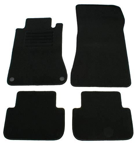 AD Tuning GmbH HG10745 Velours Passform Fußmatten Set Schwarz Autoteppiche Teppiche Carpet Floor mats