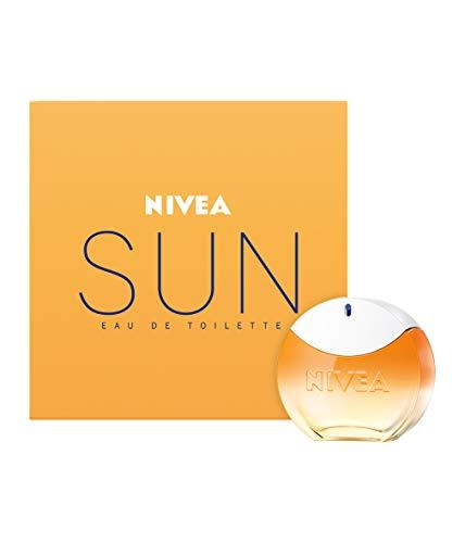 NIVEA SUN Eau de Toilette (1 x 30 ml) con el original aroma de la crema solar NIVEA SUN, perfume para mujer en un icónico frasco de perfume, sensual fragancia de mujer NIVEA SUN para verano