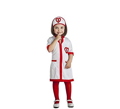 Imagen de disfraz de enfermera corazones para niña