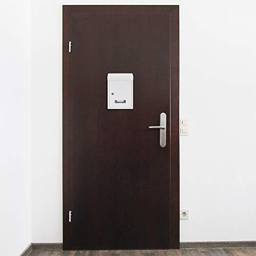 Rottner Stahl-Briefkasten Udine weiß T02952 - 5