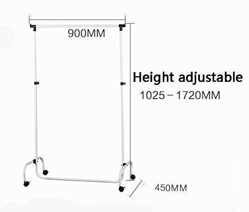 YANG Wäscheständer Kleiderbügel aus schwarzem Eisen Art Mobile bodenstehende Kleiderbügel Schlafzimmer Wohnzimmer Einfache Single Rod Typ Kleiderbügel Kleiderständer (Einfache Menschliche Rod)
