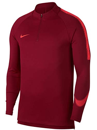 Nike Herren Dri-FIT Squad Drill Langarm Trikot, Team Red/Light Crimson, L