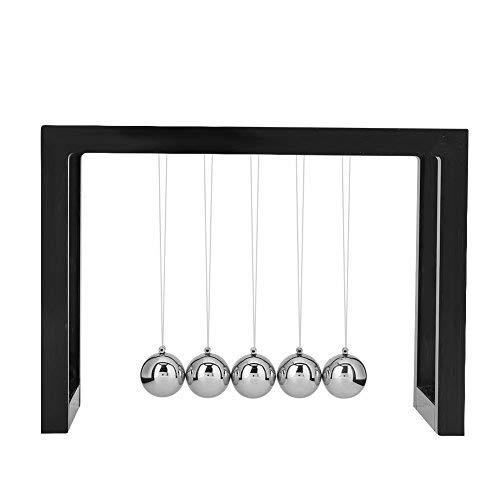 Zerodis Schreibtisch Ball Spielzeug, solide Metall Physik Wissenschaft Pendel Ball Home Office Decor...