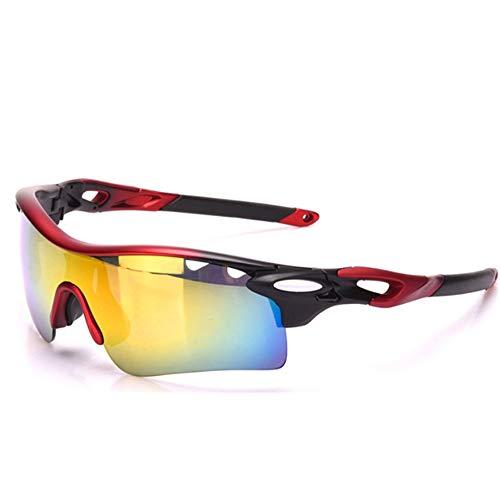 yanzi Farbwechselgläser Reiten Männer und Frauen Modelle Fahrrad Outdoor Sports Winddichte Brillen Verfärbung,Red