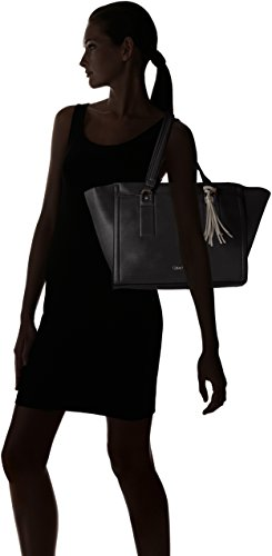 Calvin Klein - ROBYN LARGE TOTE, Borsa shopper Donna Nero (Schwarz (BLACK/FUNGI 910 910))
