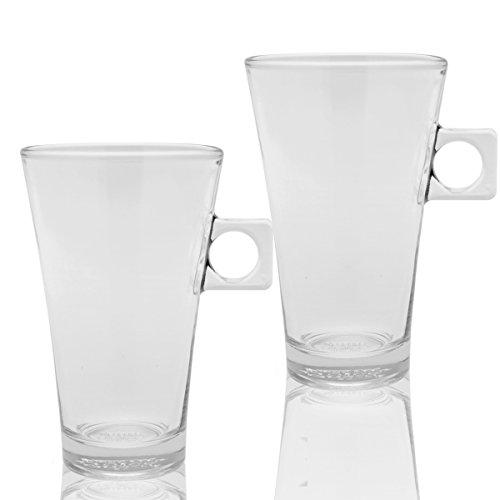 Nescafé dolce gusto latte macchiato en verre, lot de 2 tasse à café, tasse de 200 ml