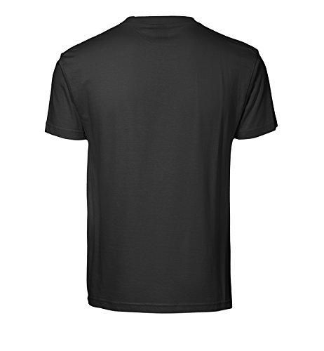 Bedrucktes Herren T-Shirt mit Motiv Neon Glow Skull Schwarz