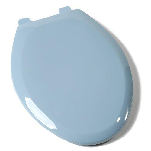 Comfort Seats C1B3E4S45 EZ Close Deluxe Plastic Elongated Toilet Seat, Regency Blue by Comfort Seats