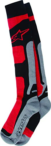 Alpinestars Tech coolmax Socken, Farbe rot-schwarz-grau, Größe S/M -