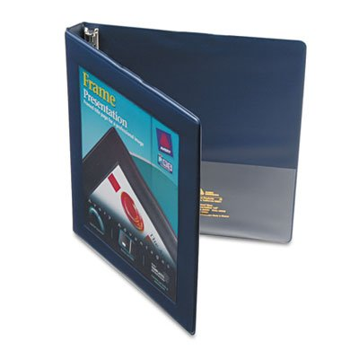 Framed View Binder with Gap Free Slant Rings, 1/2'' Capacity, Navy Blue, Sold as 1 Each
