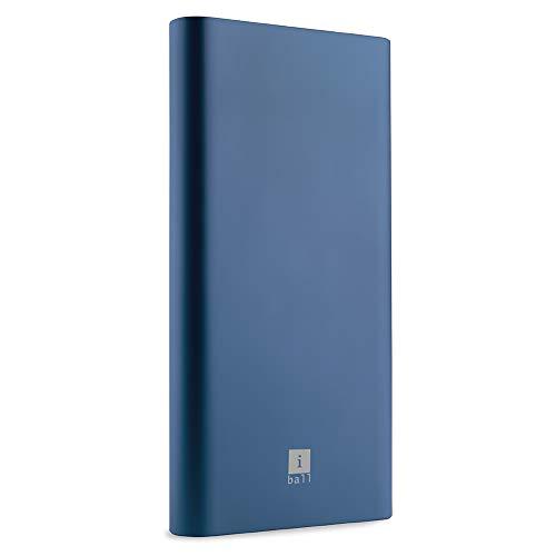 iBall 10000mAh Li-Polymer Slim Design Smart Charge Metal Powerbank- LPM10000 (Blue)