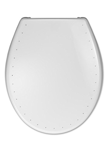 Cedo 529608 WC – Sitz mit Deckel Costa Diamond weiß, mit SoftClose Edelstahlbefestigung FastFix