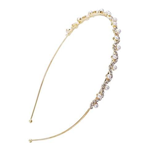Doitsa 20 Stück Haarnadeln mit Perle Hochzeit Braut Haarschmuck Strass Haarnadel Kommunion Haarpins (Gold)
