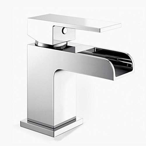 SHJICH Wasserfall Wasserhahn, Waschbecken Wasserhahn Küche und Bad,Messing Waschtischarmatur Mischbatterie Badarmatur (Antike Manuelle Kaffeemühle)