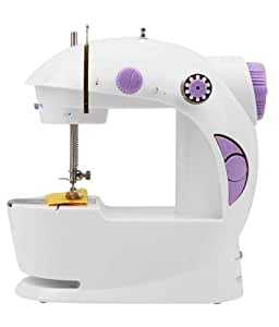 Rd World Portable 4 In 1 Mini Sewing Machine With Adapter And Foot Pedal (White)