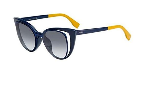 648e75a1ffa Authentic Fendi PARADEYES FF 0136 S blue yellow grey shaded Sunglasses   Amazon.co.uk  Clothing