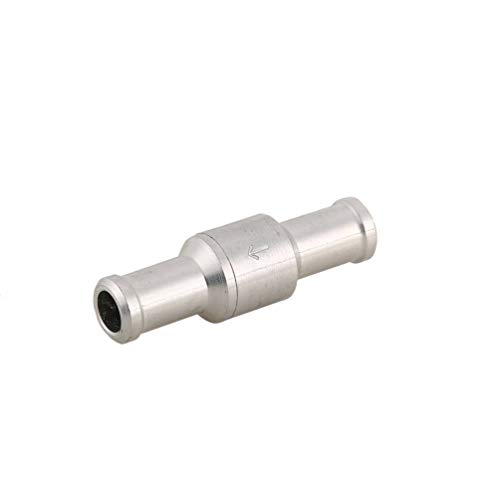 Check-valve-system (CHOULI 10Mm Fuel Non- Return Inline Check Valve Vacuum Hose One Way for Automobile Silver)