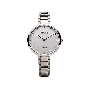 BERING Damen Analog Quarz Uhr mit Titan Armband 11334-770