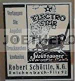 1939 : Anzeige: ELECTROSTAR STAUBSAUGER / SCHÖTTLE - Format: ca. 45 x 50 mm - alte Werbung /Originalwerbung/ Printwerbung /Anzeigenwerbung