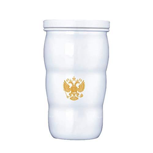FBGood Putins Gleiche Thermotasse, G20-Gipfel Putins Gleiche Toasted Thermal Cups Keramiktassen Teacup Tragbare Trinkflasche Reise Tasse Für Joggen Radfahren Fitnessstudio -